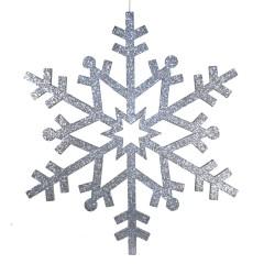81 cm snefnug, glitter, sølv