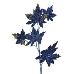 Dekogren, mørk blå med glitter og perler