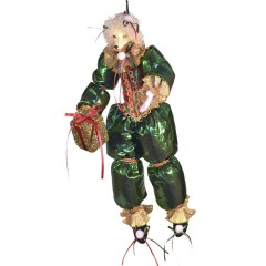 Glad puddel dukke, med gave, 48 cm