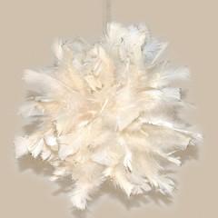 Fjerkugle med glitter, Ø30 cm