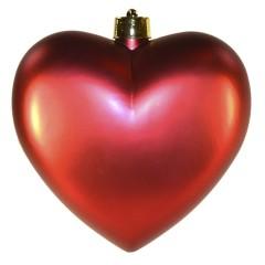 Hjerte, mat rød, 30 cm