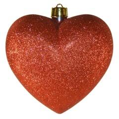 Hjerte, glitter rød, 30 cm