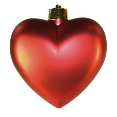 Hjerte, mat rød, 23 cm