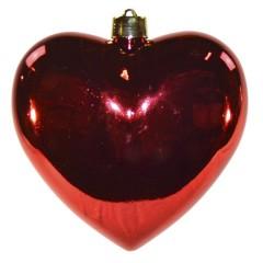 Hjerte, blank rød, 30 cm